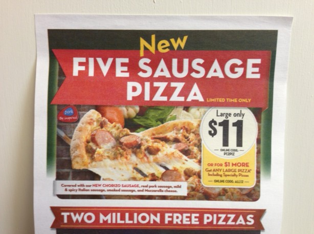The FIVE Sausage pizza...is this a truly tasty combination of flavors or is it just clever marketing leveraging our carnivorous cravings against us?