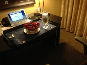 Sometimes during business trips, all I want is a simple meal delivered to my room.