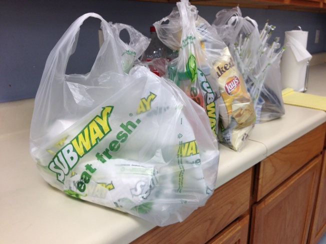 Fed Up Food Subway bags